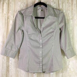 H&M Striped Button Down Blouse